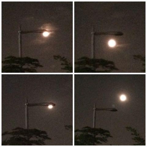Moon lighting fixture
