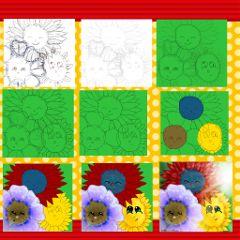 drawstepbystep flower dcflower original drawing