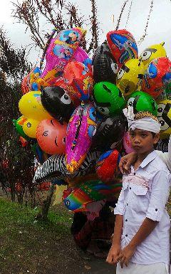 balloon baby color splash
