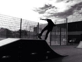 photography black & white skateboarding
