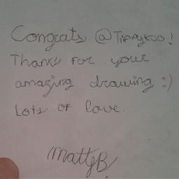 winner drawingcontest love fun fans