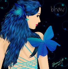 colorful painting drawing fairy vector
