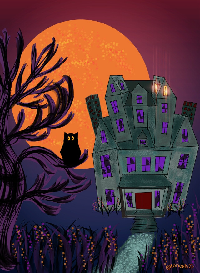 My haunted House Drawing #dcmonstermash #halloween #drawing