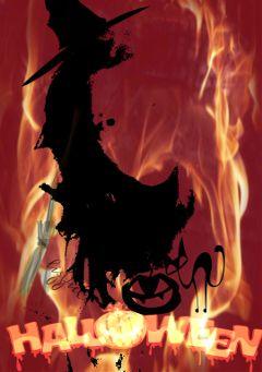 dark halloween witch