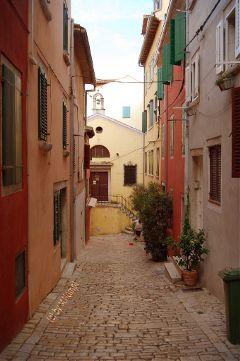 way mediterranean village croatia colorful