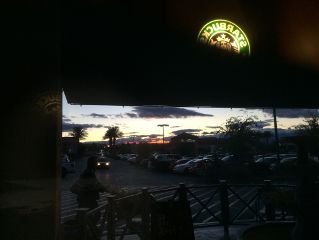 starbucks vegas sunset