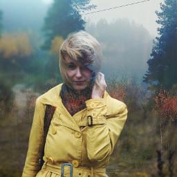 girl wood photography doubleexpossure multiexpossure