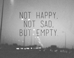 emptyness sadness darkness