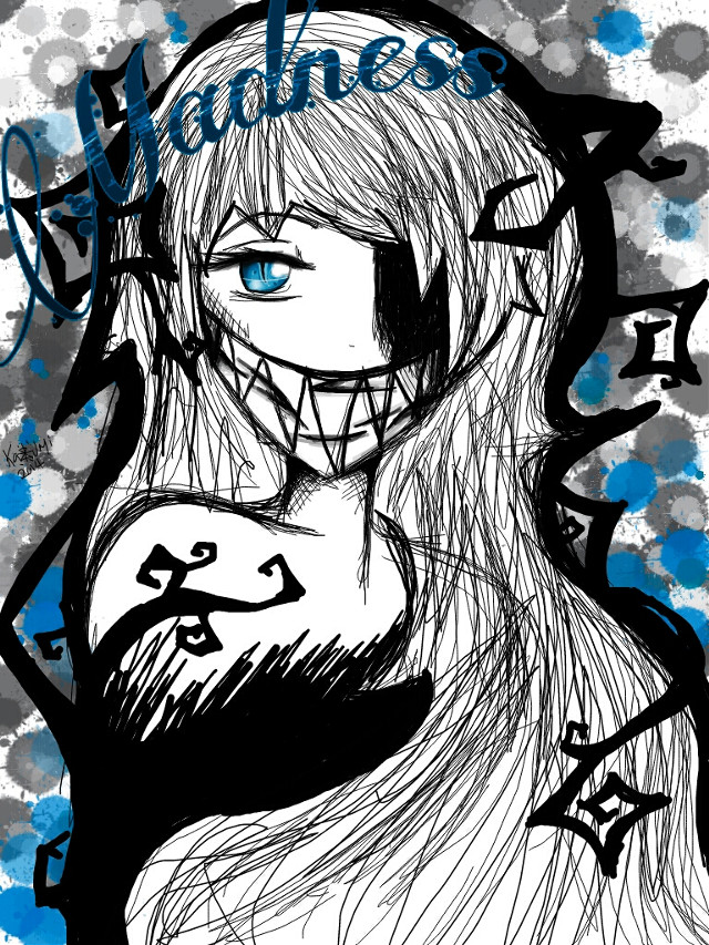 Well I made this a while ago, thought I'd post it because I hadnt posted anything in a while.  I guess this is one of the ideas I had for the Cheshire cat.  Drawn using: finger,  tablet,  and picsart.  #tablet #drawing #2014 #alice in wonderland #Chesire cat # madness #my version