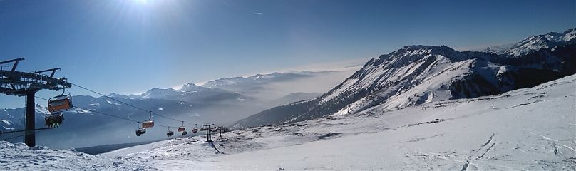 wintersports snowscape sun winter snow