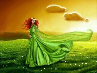 fantasy drawing princess sky sunset