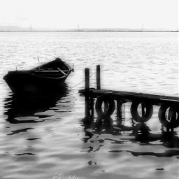 bnw landscape sea