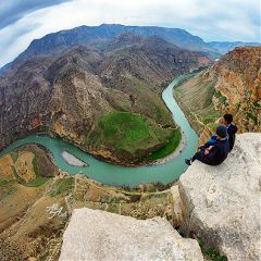 landscape cliff siirt river amazing